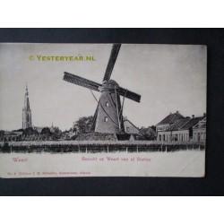 Weert ca. 1905 - gezicht vanaf Station - molen