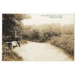 Frederiksoord 1925 - fotokaart man in bos