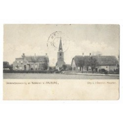 Aalburg 1903 - ond.woning + kerktoren