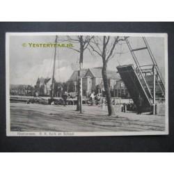 Klazinaveen 1930 - Kerk - school - brug