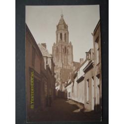 Arnhem 1935 - fotokaart kerk en toren