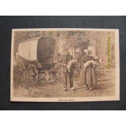 Dorps- landleven 1920 - naar de markt-echtpaar bij huifkar