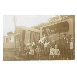 Oosterland 1917 - fotokaart stoomtramongeluk