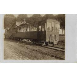 Nieuwerkerk ca. 1920 - fotokaart stoomtram botsing