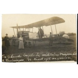 Kruiningen 1915 - landing Eng.mil.vliegtuig - fotokaart