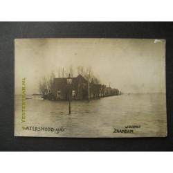 Zaandam 1916 - fotokaart watersnood