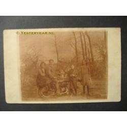 Gemert ca. 1924 - motorrijder - fotokaart
