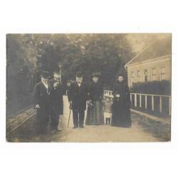 Schuddebeurs ca. 1920 - personen - fotokaart