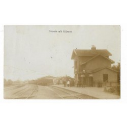 Rijssen 1911 -stoom treinstation-fotokaart