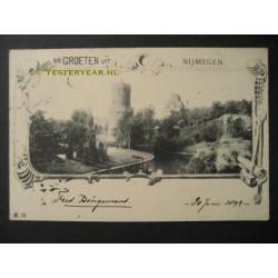 Nijmegen 1899 - voorloper - groeten uit