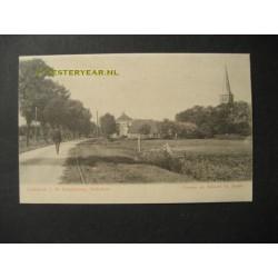 Nijland bij Sneek 1905 - herberg en kerktoren