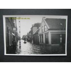 Dorpsstraat - overstroming - fotokaart onbekend