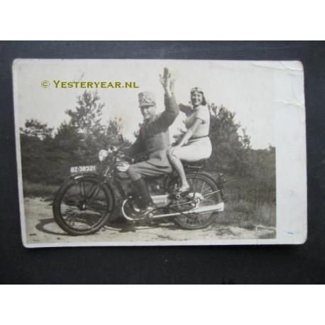 Motorrijder 1939 - soldaat - fotokaart