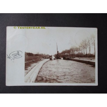Veghel 1906 - bijzondere fotokaart Zuid Willemsvaart