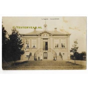 Capelle (Sprang Capelle) 1913 - fotokaart gemeentehuis