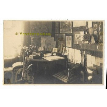Waalwijk 1929 - fotokaart - interieur