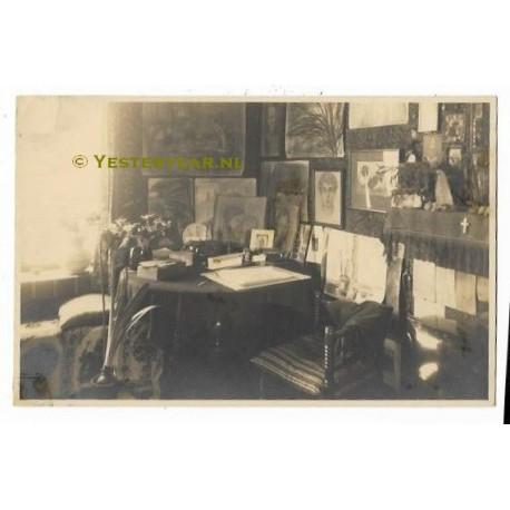 waalwijk 1929 fotokaart interieur