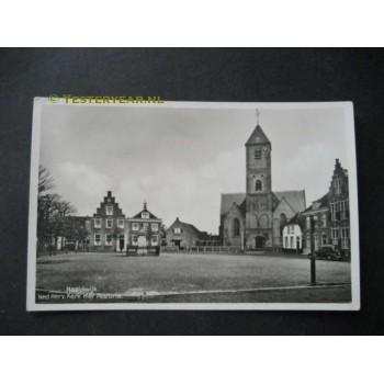 Naaldwijk 1939 - Herv.Kerk met pastorie
