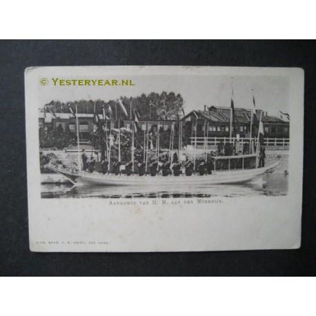 Moerdijk 1936 - aankomst H.M. Kon.Wilhelmina boot