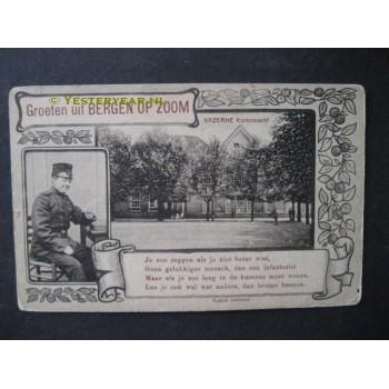 Bergen op Zoom 1915 - Kazerne Koornmarkt