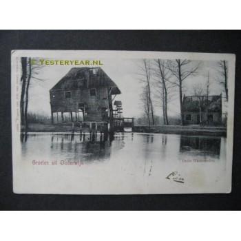 Oisterwijk 1906 - groet uit - Oude Watermolen