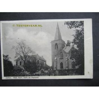 Zetten 1925 - Kerk en pastorie