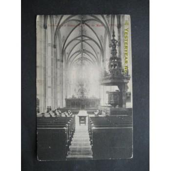 Zwolle 1900 - interieur Groote Kerk