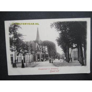 Domburg ca. 1905 - Dorpstraat groet uit