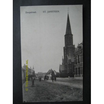 Sint Jansteen ca. 1915 - Dorpstraat - kerk