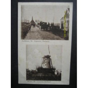 Sint Laurens 1935 - Kerklaan + Molen