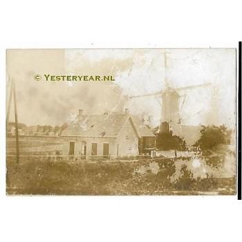 Biezelinge ca. 1925 - molen - verdwenen- fotokaart