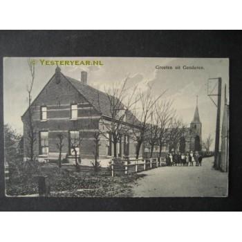 Genderen 1915 - groeten uit - kerk