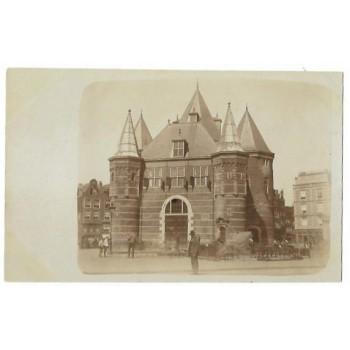 Amsterdam 1915 - de Waag Nieuwmarkt - fotokaart