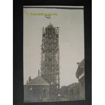 Zutphen ca. 1925 - restauratie kerktoren - fotokaart