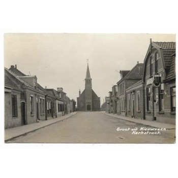 Nieuwveen 1935 - Kerkstraat - fotokaart