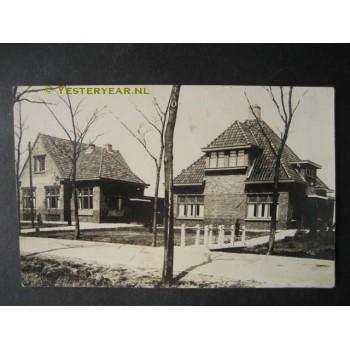 Oldekerk ca. 1930 - woningen - fotokaart
