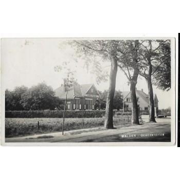Malden 1930 - Gemeentehuis -fotokaart