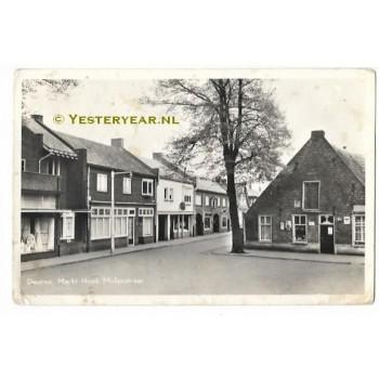 Deurne 1955 - Markt - hoek Molenstraat