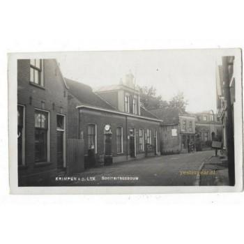 Krimpen a.s. Lek 1935 - Sociteitsgebouw - fotokaart