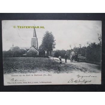 Berlicum 1902 - gezicht op kerk