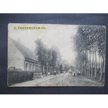 Haarsteeg 1915 - groet uit - dorpsstraat