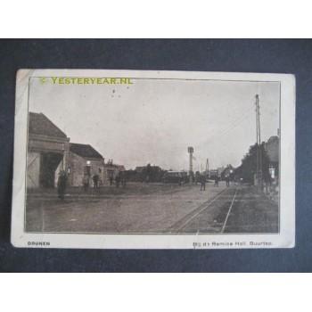 Drunen 1930 - tramremise en halte - met autobusdienst