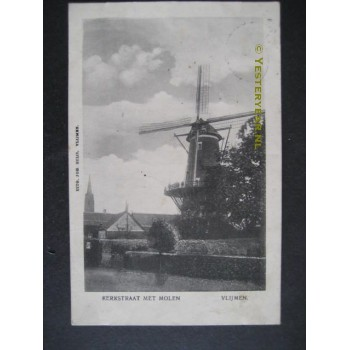 Vlijmen 1907 - molen de Hoop / Nooitgedacht Kerkstraat