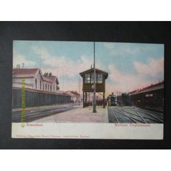 Roosendaal 1909 - Stationsemplacement - stoomtrein