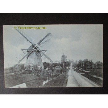 Ransdorp ca. 1910 - molen en stompe toren - kerk