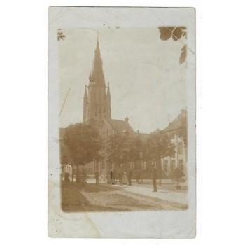Pey 1908 - Kerk - plein - fotokaart