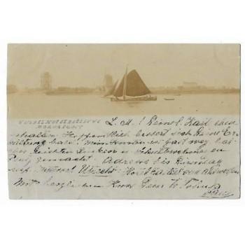 Dordrecht 1899 - gezicht op Dordrecht - fotokaart