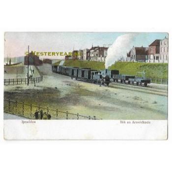 IJmuiden 1911 - Bik en Arnoldkade - stoomtrein