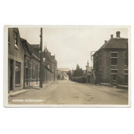 Sambeek 1935 - gemeentehuis - Grotestraat