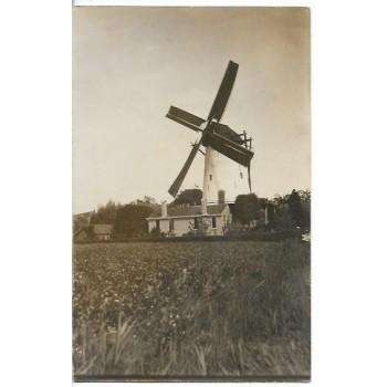 Kloetinge 1920 - korenmolen uit 1704 - fotokaart